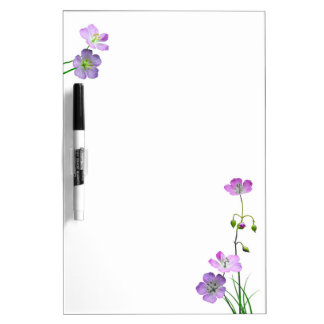 Purple Wildflower Dry Erase Whiteboards