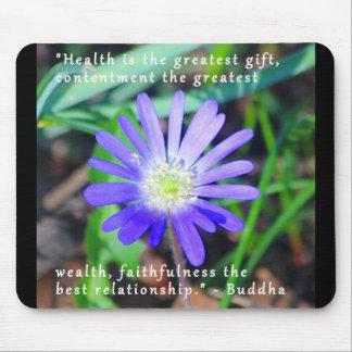 Purple Wildflower Inspirational Mousepad