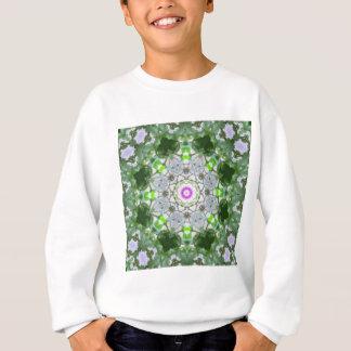 Purple Wildflower Kaleidoscope Art 8 Sweatshirt