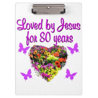 PURPLE WILDFLOWER LOVED BY JESUS FOR 80 YEARS CLIPBOARDS