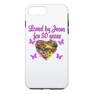 PURPLE WILDFLOWER LOVED BY JESUS FOR 80 YEARS iPhone 7 PLUS CASE