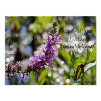Purple Wildflower Quote Poster