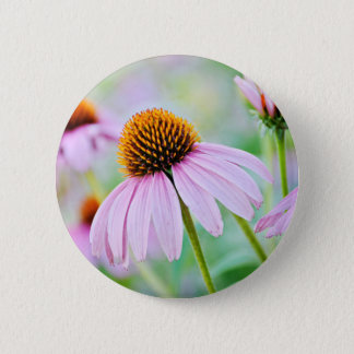 Purple Wildflowers 6 Cm Round Badge
