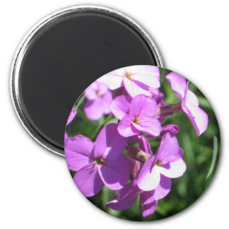 Purple Wildflowers 6 Cm Round Magnet