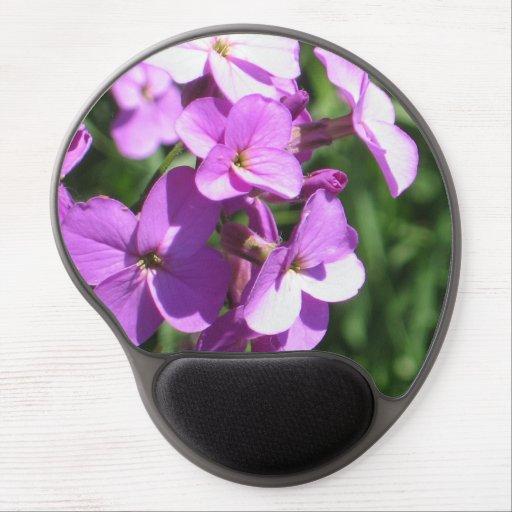 Purple Wildflowers Gel Mouse Pads