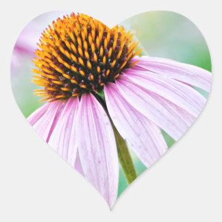 Purple Wildflowers Heart Sticker