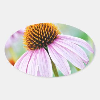 Purple Wildflowers Oval Sticker