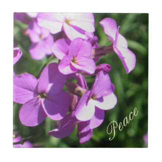 Purple Wildflowers-Peace Small Square Tile