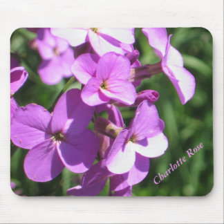Purple Wildflowers Personalized Mouse Pad