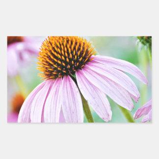 Purple Wildflowers Rectangular Sticker