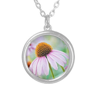 Purple Wildflowers Silver Plated Necklace