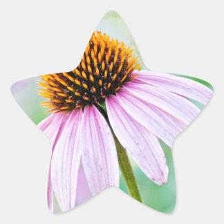 Purple Wildflowers Star Sticker