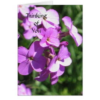 Purple Wildflowers Thinking of You Card