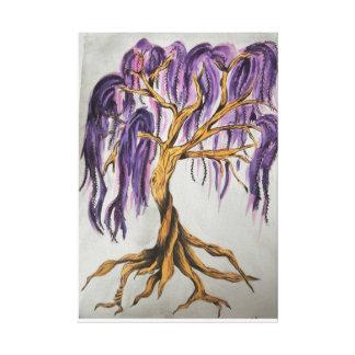 Purple Willow Tree Canvas Print