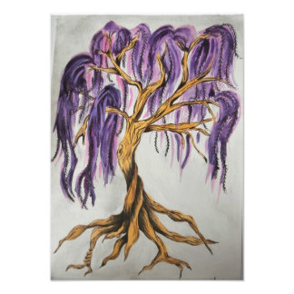 Purple Willow Tree Print