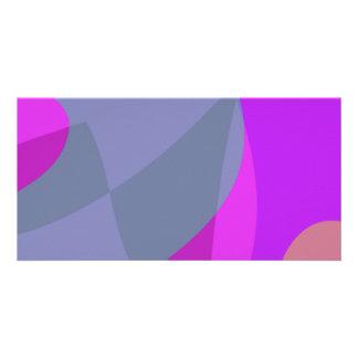 Purple Wind Custom Photo Card