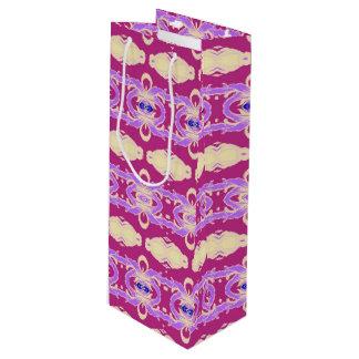 purple wine gift bag