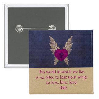 Purple Winged Love Button