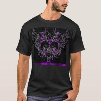 Purple Winged Skull T-shirt