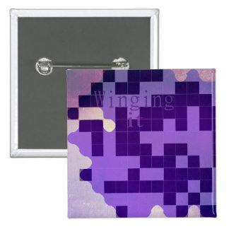 Purple winging it badge