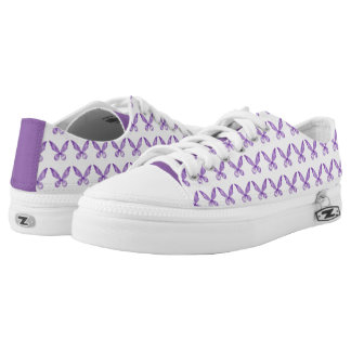 Purple Wings Canvas Shoes Printed Shoes