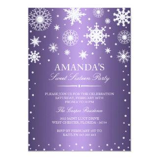 Purple Winter Wonderland Sweet 16 Invitation