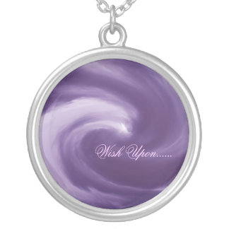 Purple Wish Upon.... Round Pendant Necklace