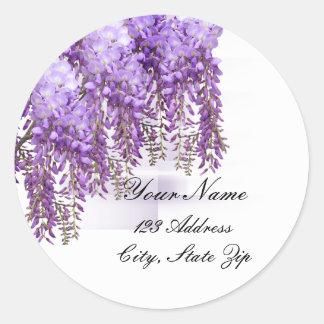 Purple Wisteria Address Sticker