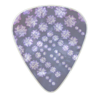 Purple Wisteria Flower Garden Japanese Tree Bold Pearl Celluloid Guitar Pick