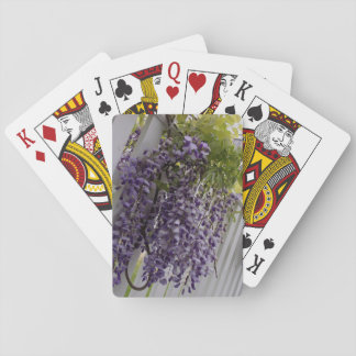 Purple Wisteria Flower Playing Cards