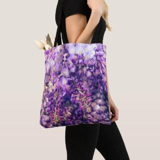 Purple Wisteria Tote Bag