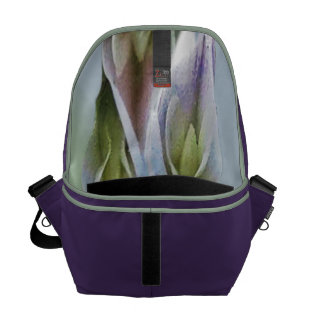Purple with Abstract Pastel Interior Courier Commuter Bag