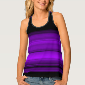 Purple with black shades / stripes tank top