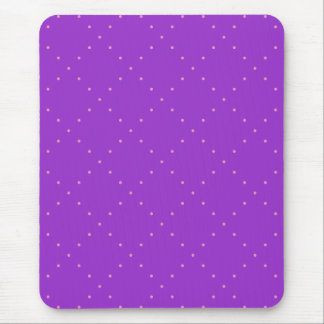 Purple with Pink Polka Dots in a Diamond Grid Mouse Pad