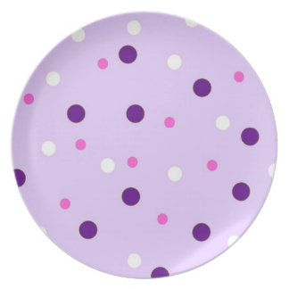 Purple with Pink Polka Dots Party Plates
