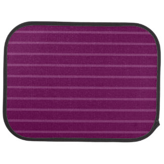 Purple with Thin Light Stripes Rear Car Mat