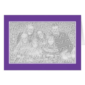 Purple with White Border (photo frame) Greeting Card