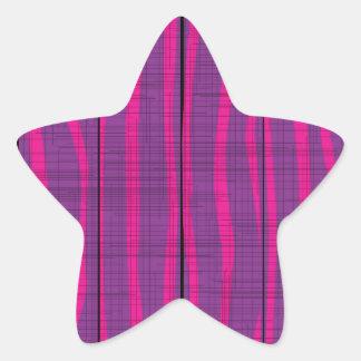 Purple Wooden Grunge Background Star Sticker