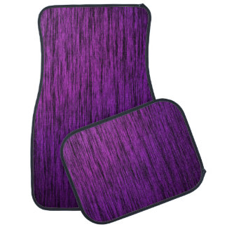 Purple woodgrain car mat