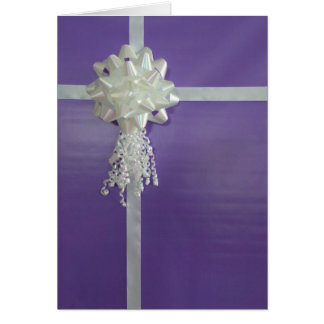 Purple Wrapped Gift Birthday Card