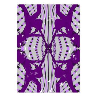 """Purple X"" Chubby Card Business Card Templates"