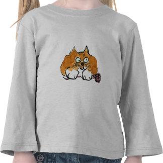 Purple Yarn and a Fiesty Orange Cat Tshirts