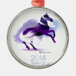 PURPLE YEAR OF THE HORSE CHRISTMAS ORNAMENT