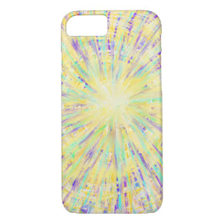 Purple Yellow Aqua Star Abstract Art Design iPhone 8/7 Case
