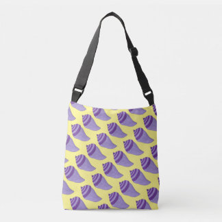 Purple Yellow Beach Shells Sea Shells Seashell Bag