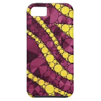 Purple Yellow Bling Zebra Tough iPhone 5 Case