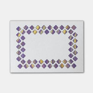 Purple Yellow Diamonds Post it Notes
