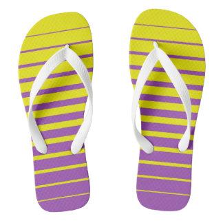 Purple Yellow Flip Flops