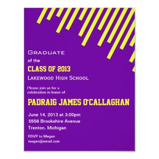 Purple & Yellow Graduation Invitation