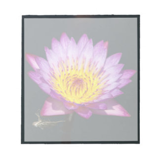 Purple & Yellow Lotus with Dragonfly Nymph Notepad
